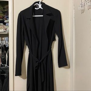 FOREVER 21 Black Thin Trench Jacket